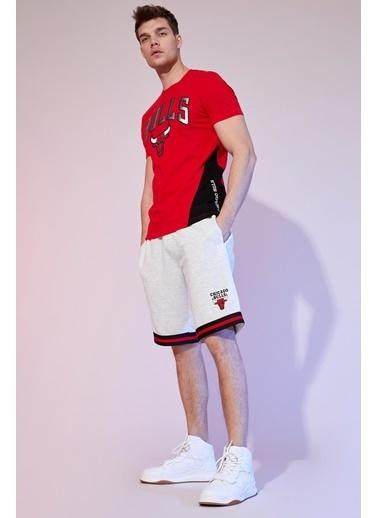 DeFacto NBA Lisanslı Regular Fit Pamuklu Tişört Kırmızı